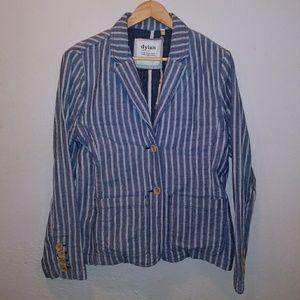 NWT DYLAN Striped Cotton Blazer